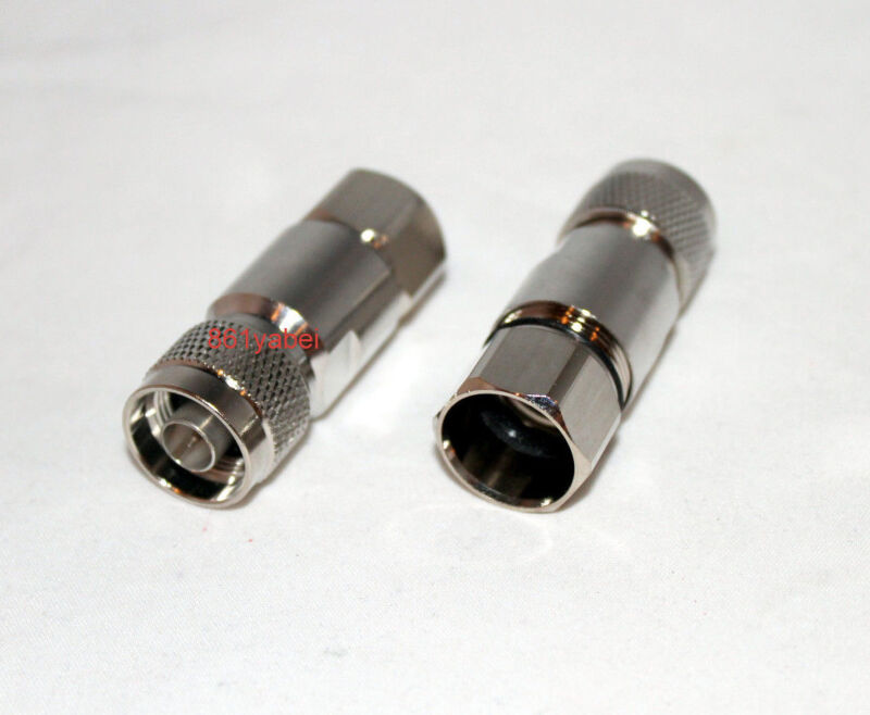 "Connector N male 1/2"" for Corrugated copper Standard Andrew Heliax silver; US"