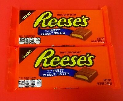 Reese's Giant Peanut Butter Bars - TWO COUNT - Candy Bar - FREE - Candy Reeses