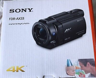 New Sony FDR-AX33 4K HD Video Recording Handycam Camcorder New