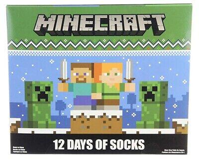 Minecraft Kids 12 Days of Socks Holiday Advent Calendar (6/8)