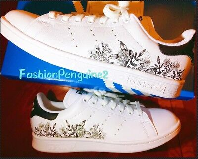 Adidas Originals STAN SMITH Women s Sneakers Lifestyle Tennis Shoes FLORAL e5a8c0c65