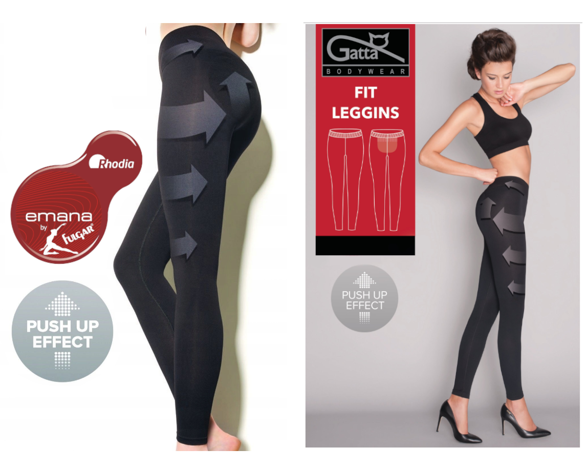 LEGGINGS GATTA FIT PUSH-UP formend modellierend Fit ANTI-CELLULITE Sporthose
