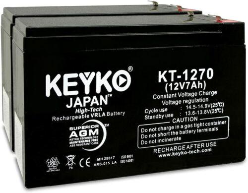 2 Pack 12V 7Ah Battery  AGM/SLA Sealed Lead Acid Rechargeable  KEYKO , Razor