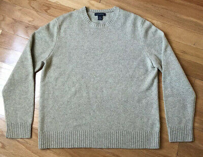 Banana Republic Men's Luxury Blend Sweater Sz L, Wool, Cashmere, Angora Mens Luxury Wool Cashmere