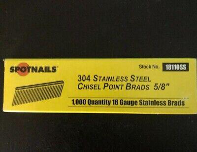 "100,000 18 Gauge 1//2/"" Inch Brads Galvanized Brad Nails for Bostitch Senco"