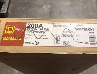 Square D 200 Amp 40 Space Indoor Main Breaker Panel Box Load Center Hom40m200c