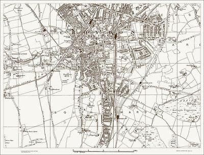 Croydon Map 1888 Gtr London #48