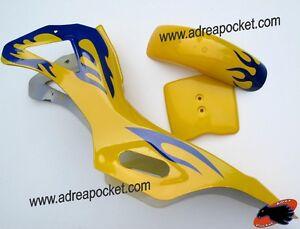 car nage jaune bleu pocket bike cross ebay. Black Bedroom Furniture Sets. Home Design Ideas