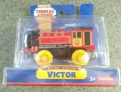 BATTERY OPERATED VICTOR ~ THOMAS & FRIENDS WOODEN RAILWAY ~ NEW IN BOX ~ RETIRED