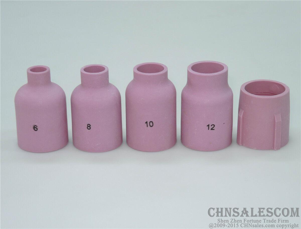 10pcs 53N87 12# TIG Alumina Ceramic Cup Nozzle TIG Welding Torch SR WP-18