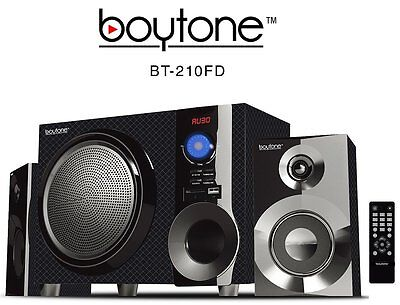 Boytone BT210FD Wireless Bluetooth 2.1 Speaker Bluetooth SD AUX USB FM Radio NEW on Rummage