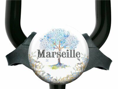 Blue Flowers Spring Tree Stethoscope Id Name Tag