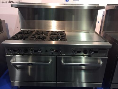 "New 60"" Range 6 Burners 24"" Griddle  2 Full Ovens Stove  Lp Gas Free Liftgate"