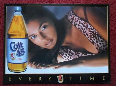 Sexy Girl Beer Poster COLT 45 Malt Liquor ~ Exotic Female Beauty EVERYTIME