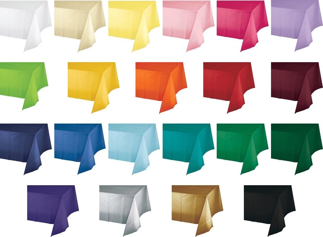 54 x 108 plastic table covers heavy