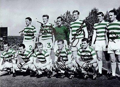 Celtic 1967 European Cup Lisbon Lions 16 x 12 print signed by 8 legends