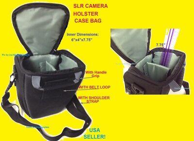 HOLSTER CAMERA CASE BAG With Belt Loop TO: DSLR/SLR/TLR NIKO