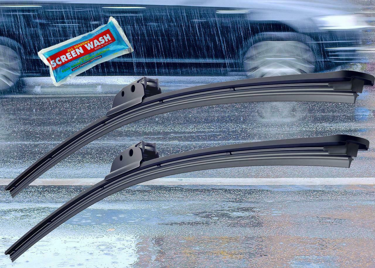 """26/"""" Stylarize Pair Of Front Car Windscreen Windshield Wiper Blades Wipers 24/"""""""