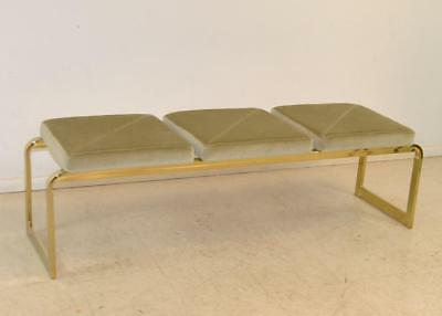 Brass Bench With Three Mohair Cushions By DIA With Original Tag (Brass Bench)