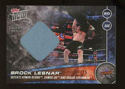 2017 Topps Now WWE Summer Slam #1131A Brock Lesnar 14/25 Authentic Mat Relic