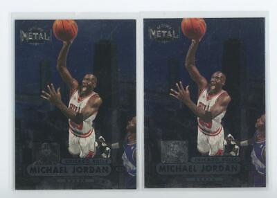 1997 Skybox Metal Universe #23 Michael Jordan Chicago Bulls Lot of 2