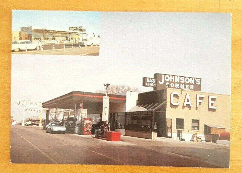 Historic Johnson's Corner Cafe Gas Station, 1990s ( Single, Postcard)