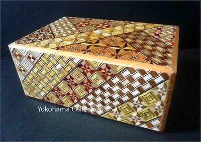 SAMURAI  Wooden Yosegi Secret Trick Puzzle Magic LARGE Box 21 Step/HK-134