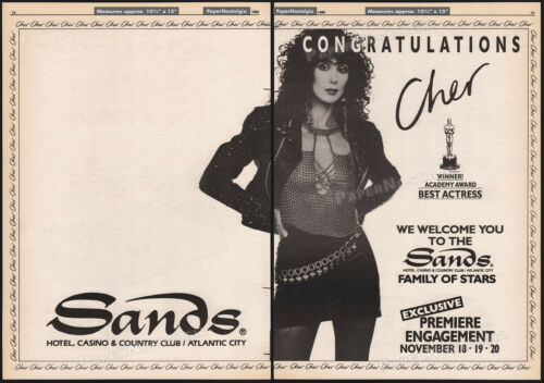 CHER - The SANDS - Atlantic City__Original 1988 Trade AD / poster__concert promo