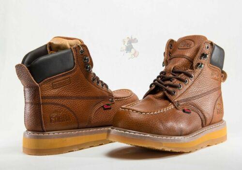Men Work Boot Cobra C27M Dark Brown Genuine Leather Welt Construction Brand New