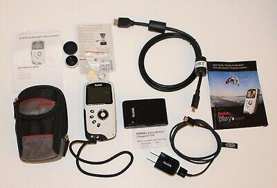 Kodak PlaySport HD Waterproof Pocket Video Camera Zx5 BUNDLE LOT, usado segunda mano  Embacar hacia Argentina