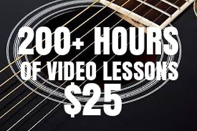 Over 200 Hours Of VIDEO Music Lessons! Guitar, Bass, Ukulele MORE! Beginner/Pro.
