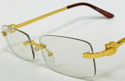 Hip-Hop Buffs Migos  Metal glasses Quavo Shades Rimless Gold Frame Clear (Migos Shades)
