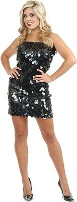 Sequin Flapper Dress Up Halloween Adult Costume 2 COLORS (Hollywood Halloween)