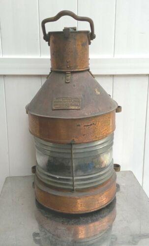 Large Copper Masthead Light William Harvie