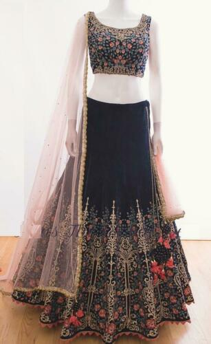 Indian Pakistani Bollywood New Designer Lengha Velvet Wear Wedding Lehenga Choli