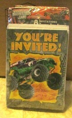 MONSTER JAM TRUCK BIRTHDAY INVITATIONS 8 CT. - Monster Jam Birthday Invitations