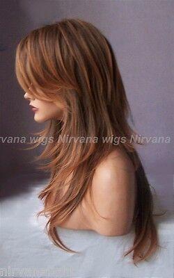 NEW!!! Multi Tones Auburn Extra Long Layered Joanne Wig