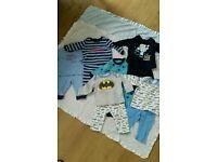 Bundle of baby boy pj's