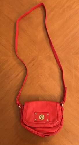 Very Small Tiny Marc By Marc Jacobs Red Leather Cr
