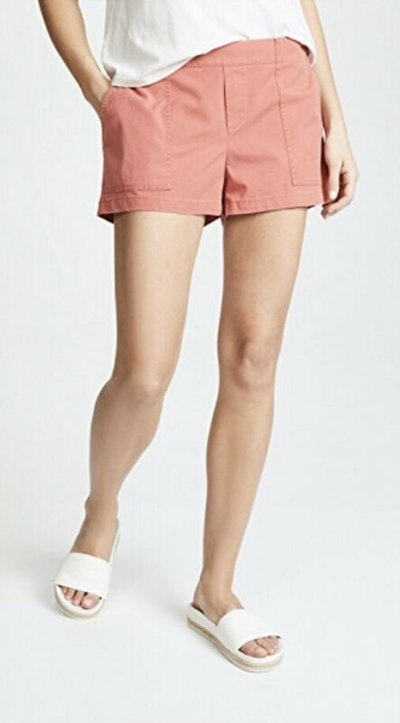 Hatch Maternity Women's THE REPUBLIC SHORT Red Cotton Blend Size 1 (S/4-6) NEW