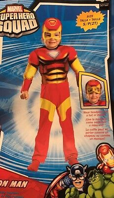 Super Hero Squad Iron Man Costume Toddler Small (2T) Free Shipping - Toddler Super Hero Costumes