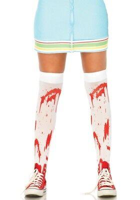 LAG Leg Avenue 6675 Socken Strümpfe Kniestrümpfe blutiger Zombie Blut Halloween