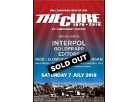2x The Cure BST British Summer Time general admission tickets Hyde Park 7th July