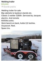 Welding trailer for sale