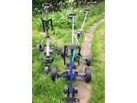 POWERBUG & HILL BILLY JOB LOT x4 WHEEL GOLF BAG TROLLEY COLLECT FROM WD7 HERTS