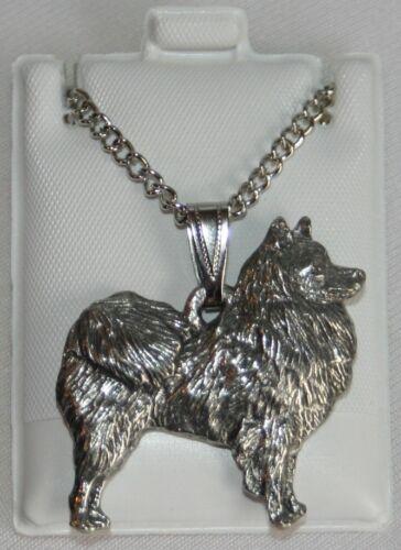 American Eskimo Dog Harris Fine Pewter Pendant w Chain Necklace USA Made