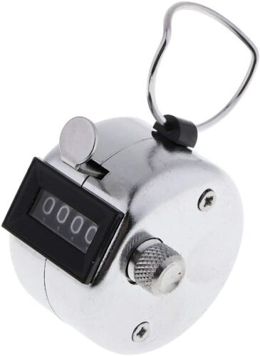 4 Digit Number Dual Clicker Golf Hand Tally Counter all metal Handy Convenient
