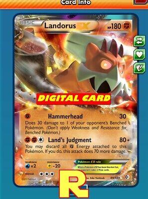 Landorus EX - Regular Art - for Pokemon TCG Online (DIGITAL ptcgo in Game Card)