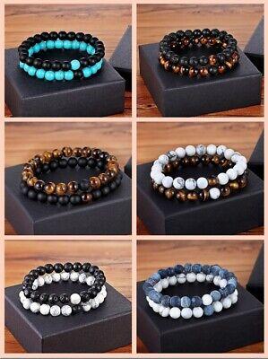 ND DAMEN HERREN Edel Naturstein Freundschaftsarmband Perlen (Perlen Armbänder)