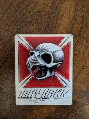 VINTAGE Original Powell Peralta Tony Hawk Skateboard Sticker Bones Brigade 1983